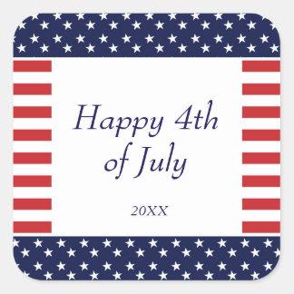 4 juillet autocollant de partie de Jour de la