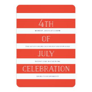 4 juillet BANNIÈRE ÉTOILÉE d'invitation de partie Carton D'invitation 12,7 Cm X 17,78 Cm