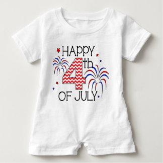 4 juillet barboteuse infantile heureuse