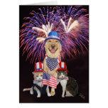 4 juillet carte d'anniversaire avec les animaux fa