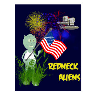 4 juillet carte postale drôle d'aliens de plouc
