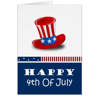 4 juillet cartes heureuses
