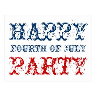 4 juillet cartes heureuses de partie pour le Jour