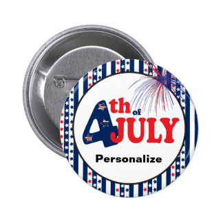 4 juillet célébration de partie badge