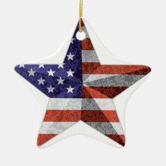 4 juillet contour d'étoile avec la texture de ornement étoile en céramique