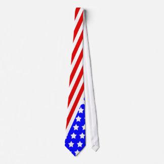 4 juillet cravate, cravate de drapeau américain