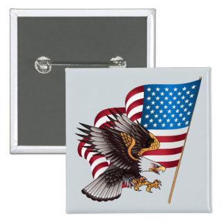 4 juillet drapeau américain et Eagle Badge