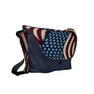 4 juillet drapeaux américains blancs et bleus sacoches
