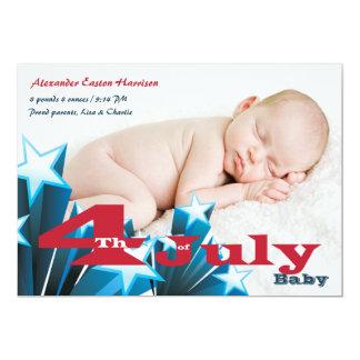 4 juillet faire-part de naissance de photo