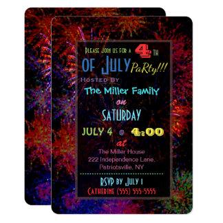 4 juillet invitation de feux d'artifice
