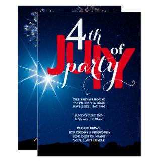 4 juillet invitations d'étoiles et de feux