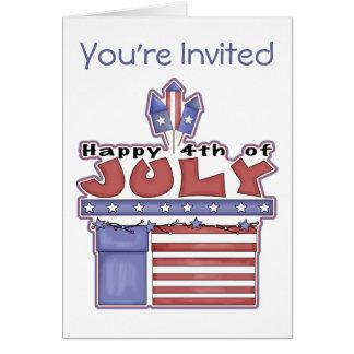 4 juillet - invitations heureuses