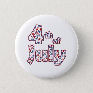 4 juillet Jour de la Déclaration d'Indépendance Badge