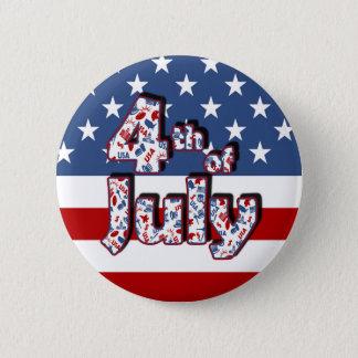 4 juillet Jour de la Déclaration d'Indépendance Badges