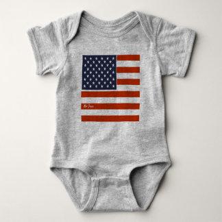 """4 juillet le drapeau américain """"soit"""" combinaison body"""