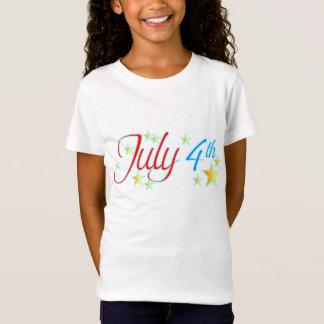 4 juillet le T-shirt de la fille d'étoiles