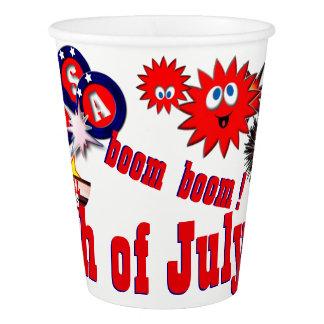 4 juillet les Etats-Unis Gobelets En Papier