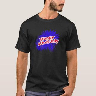 4 juillet logo graphique heureux t-shirt