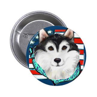 4 juillet Malamute d'Alaska Badge
