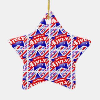 4 juillet motif heureux de thème ornement étoile en céramique