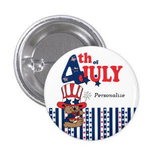 4 juillet ours patriotique heureux badge