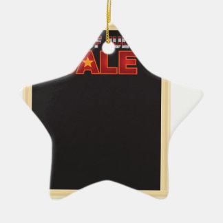 4 juillet panneau de signe de VENTE avec Ornement Étoile En Céramique