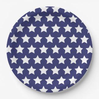 4 juillet : Plaques à papier bleues avec de Assiettes En Papier
