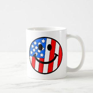 4 juillet smiley mug