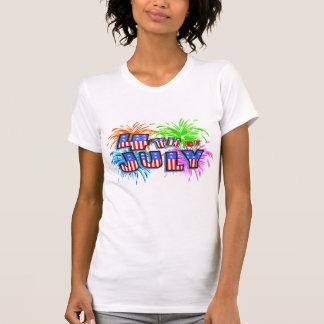 4 juillet T-shirt de feux d'artifice