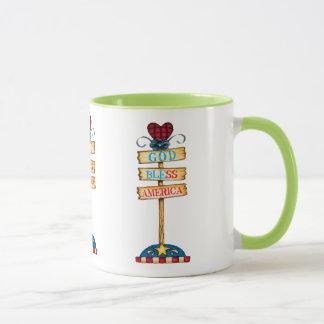 """4 juillet"""" tasse de café heureuse."""