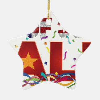 4 juillet texte de vente avec des confettis de ornement étoile en céramique