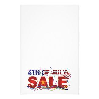 4 juillet texte de vente avec des confettis de papeterie