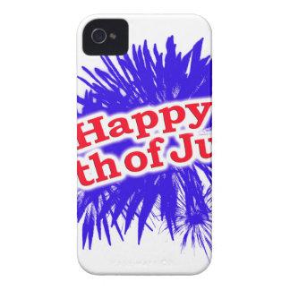 4 juillet thème graphique heureux coques iPhone 4