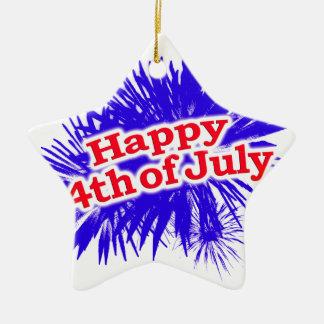 4 juillet thème graphique heureux ornement étoile en céramique