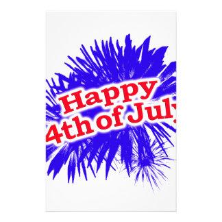 4 juillet thème graphique heureux papeterie