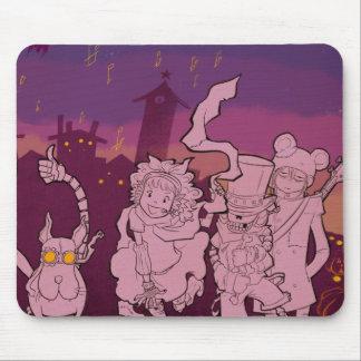 4 petits monstres - musique de nuit tapis de souris