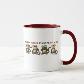 4 singes sages mug
