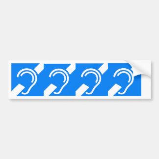 4 symboles internationaux pour le sourd autocollant de voiture