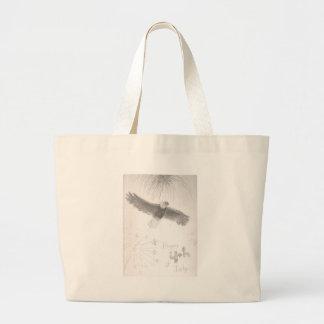 4' Th de l'aigle chauve de feux d'artifice de Grand Tote Bag