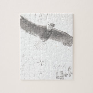 4' Th de l'aigle chauve de feux d'artifice de Puzzle