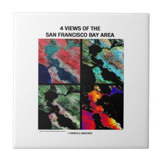 4 vues de la région de baie (imagerie satellitaire carreau en céramique