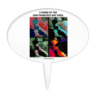 4 vues de la région de baie (imagerie satellitaire pique à gâteau