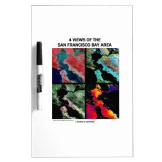 4 vues de la région de baie (imagerie satellitaire tableaux effaçables à sec