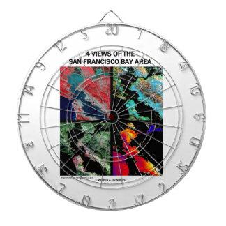 4 vues de la région de baie (imagerie satellitaire jeux de fléchettes