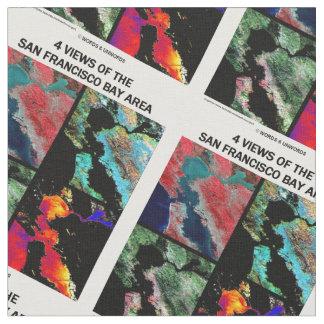 4 vues de la terre d'imagerie satellitaire de tissu