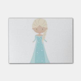 4 x 3 notes de post-it -- Elsa Animated de congelé