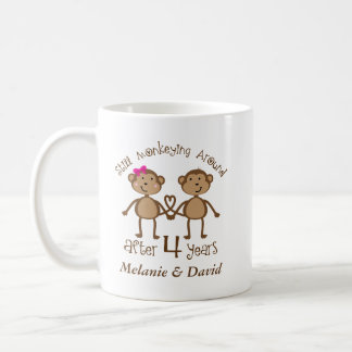 4ème Anniversaire de mariage son sien tasse de