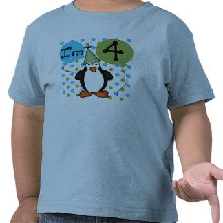 4ème anniversaire de pingouin t-shirts