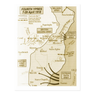 4ème Bataille de Ypres, 1918 Carte Postale