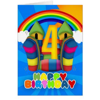 4ème Carte d'anniversaire avec le château plein
